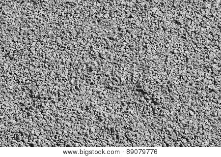 Rough Crushed-stone Surface Of Gray Color
