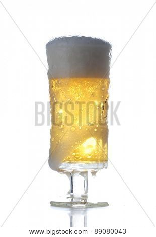 Studio shot of beer on white background