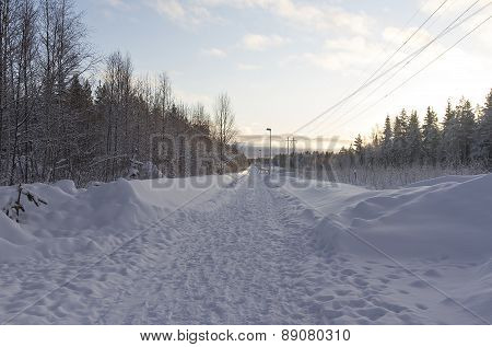 A winter walkway