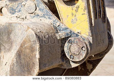 Hinge Mechanism Of A Bucket The Excavator