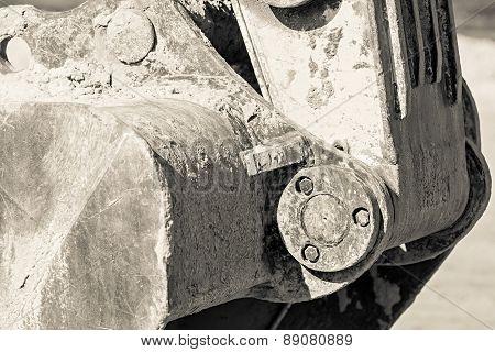 Bucket Of The Excavator In Monochrome Tone