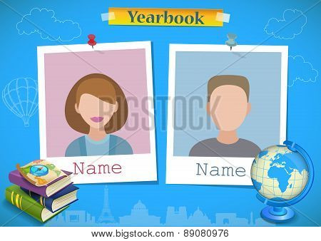 School album yearbook and geography