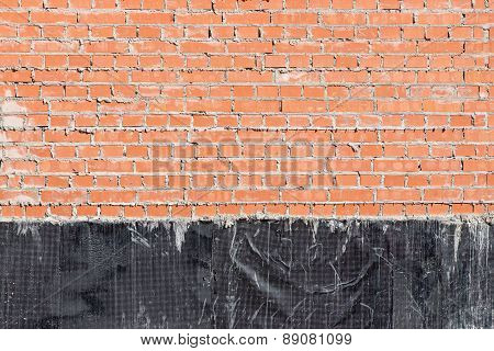 Brick Wall With A Waterproofing