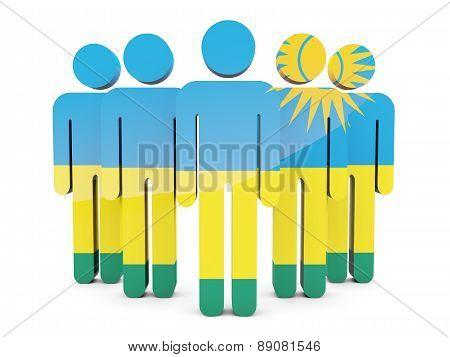 People With Flag Of Rwanda
