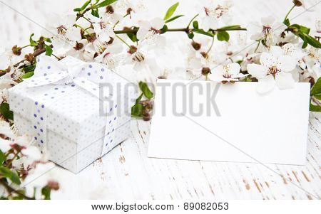 Spring Blossom And Gift Box