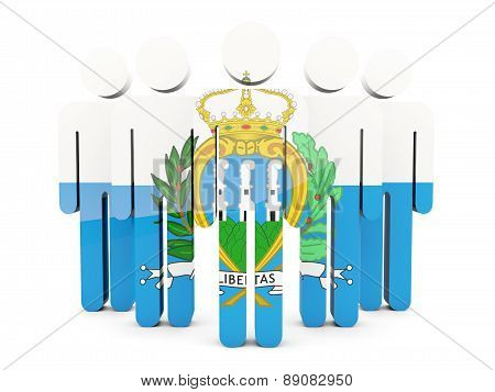 People With Flag Of San Marino