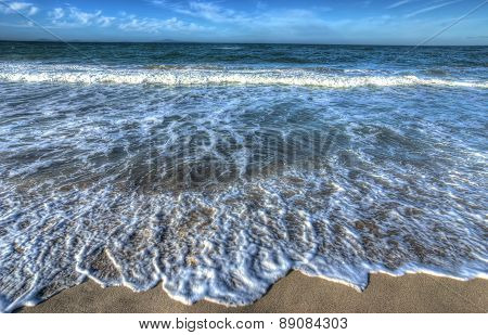 Waves By The Foreshore In Sardinia
