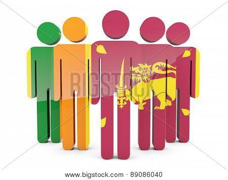 People With Flag Of Sri Lanka