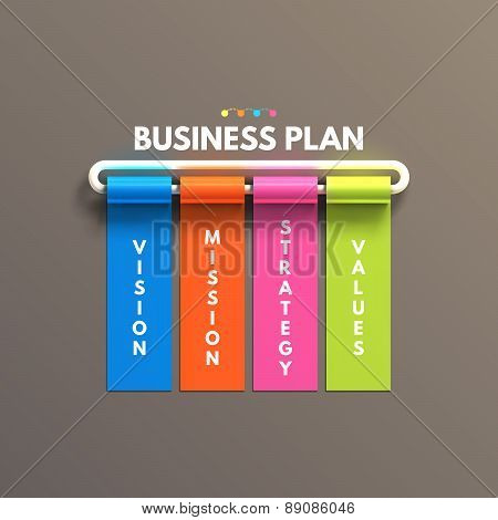 Banner business infographic template. Business plan concept.