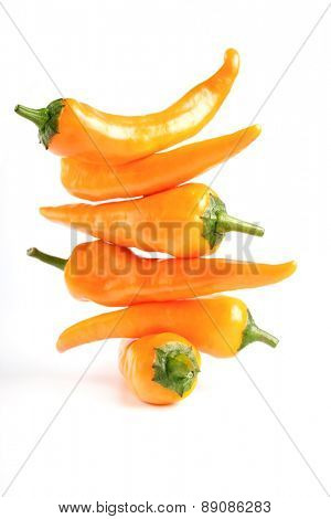 Studio shot of chilli peppers