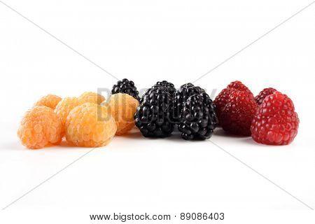 Berries on white backgrond - studio shot