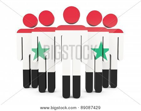 People With Flag Of Syria