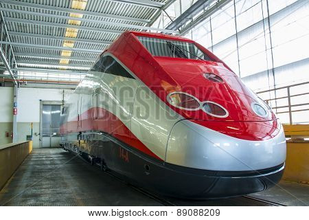 New Train Model Etr 500 Ready To Exit From The Workshop