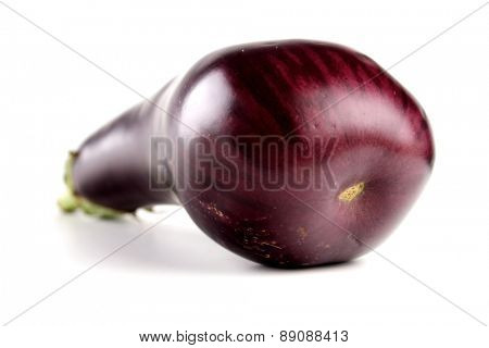 Aubergine on white background - studio shot