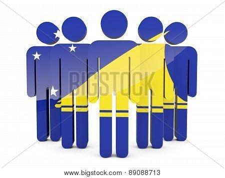 People With Flag Of Tokelau