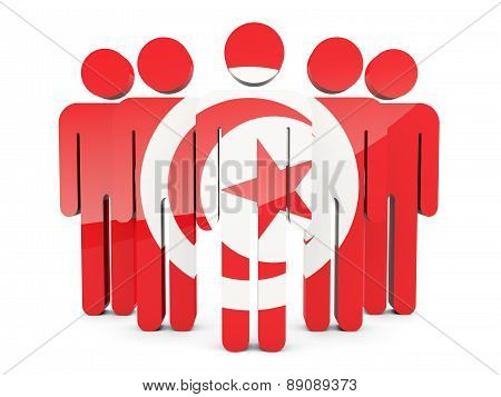 People With Flag Of Tunisia