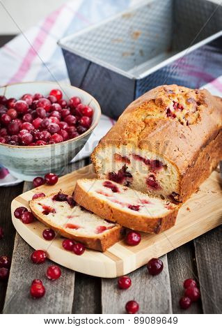 Delicious Fresh Homemade Cranberry Loaf