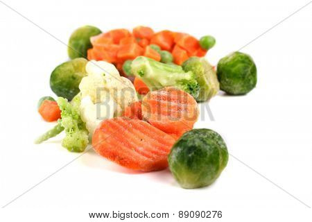 Close-up of frozen food vegetables