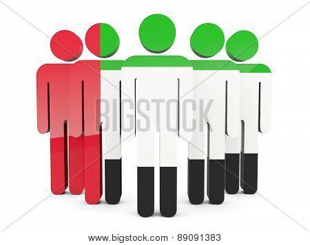 People With Flag Of United Arab Emirates