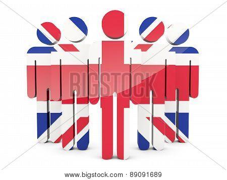 People With Flag Of United Kingdom