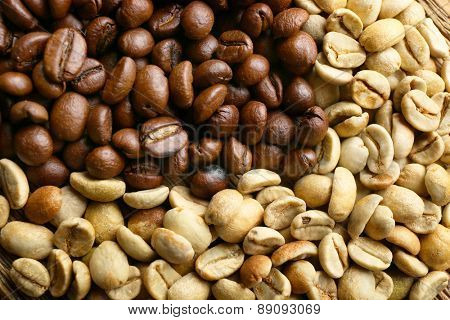 Coffee beans, closeup