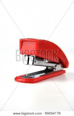 Stapler on white background
