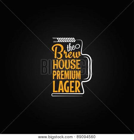 beer mug design background