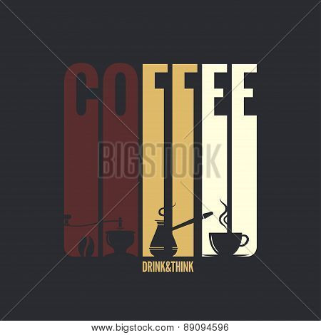 coffee label design background