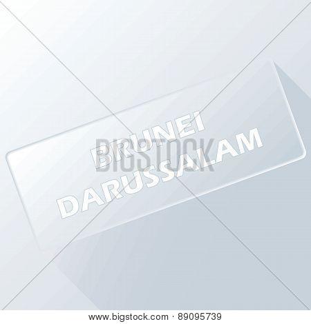 Brunei darussalam unique button