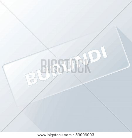 Burundi unique button