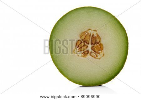 Melon on white background - close-up