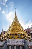 pic of emerald  - Pagoda in Temple of the Emerald Buddha or Grand palace - JPG