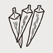 pic of okra  - Okra Doodle - JPG