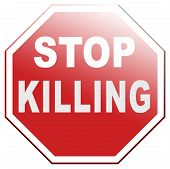 picture of kill  - stop killing no guns ban weapons end the war and violence - JPG