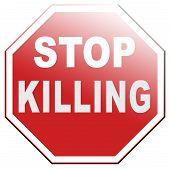 pic of kill  - stop killing no guns ban weapons end the war and violence - JPG