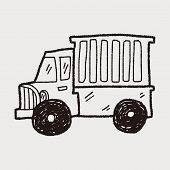 pic of hand truck  - Truck Doodle - JPG