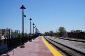 pic of illinois  - A railway platform for Metra trains in Joliet, Illinois ** Note: Soft Focus at 100%, best at smaller sizes - JPG