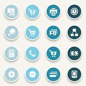 stock photo of internet icon  - Shopping web icons set - JPG