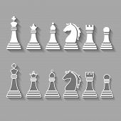 picture of chess pieces  - chess pieces including king - JPG