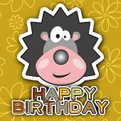 picture of crew cut  - Cute happy birthday card with funny crew cut - JPG