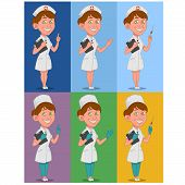 image of nurse  - set of nurses - JPG
