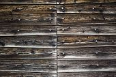 image of chalet  - Background of old wooden plank on a chalet - JPG