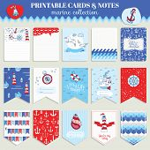 picture of brig  - Nautical Sea Card Set  - JPG