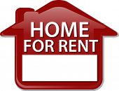stock photo of house rent  - Illustration concept clipart for rent sign house renting - JPG