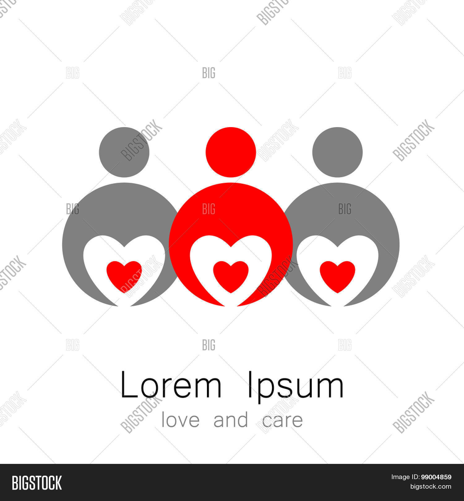 Logo template persons hearts vector photo bigstock logo template a persons with a hearts the idea for the sign identifying the buycottarizona