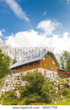 Aljaz Lodge in the Vrata Valley, Slovenia.