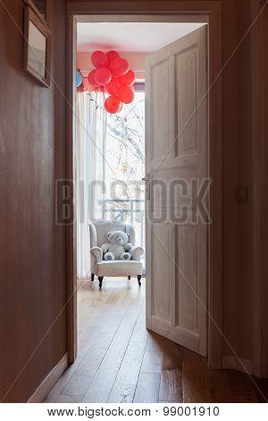 Open Door To Child's Room