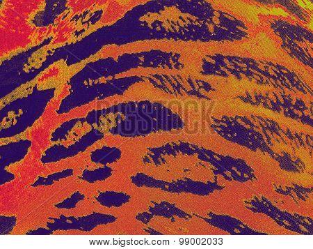 Purple-orange gradiented leopard textile background