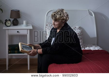 Lonely Woman In Rest Home