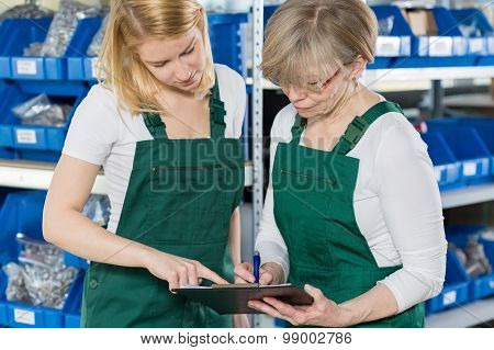 Women Checking Product List